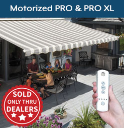 Motorized PRO and PRO XL Awnings