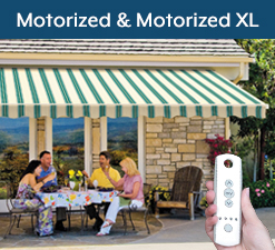 Motorized and Motorized XL Awnings